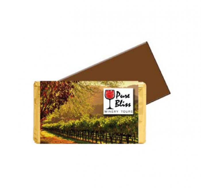 Small Chocolate Bar with Custom Printed Wrapper