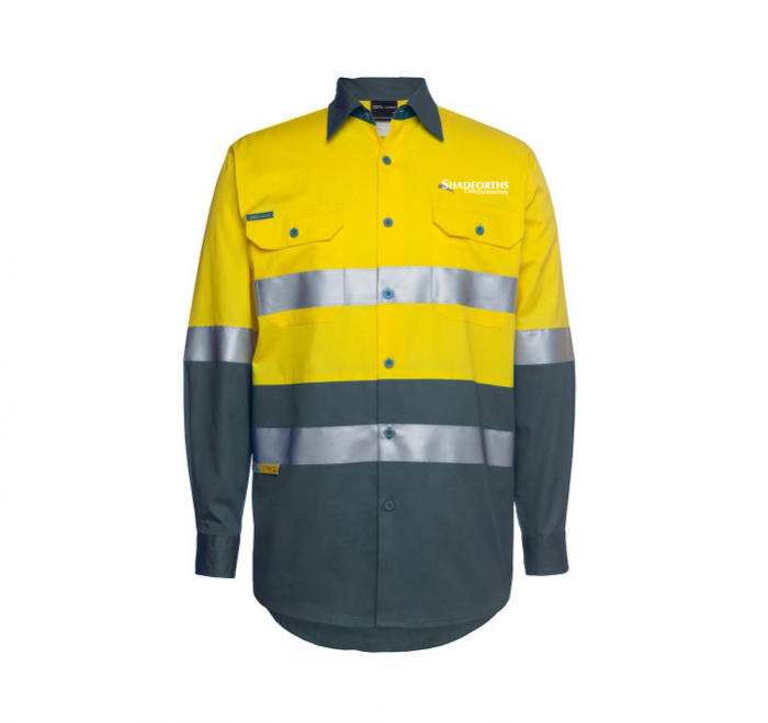 Hi Vis Long Sleeve (D+N) 150G Work Shirt
