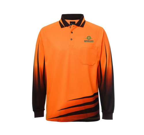 Hi Vis Long Sleeve Rippa Sub Polo