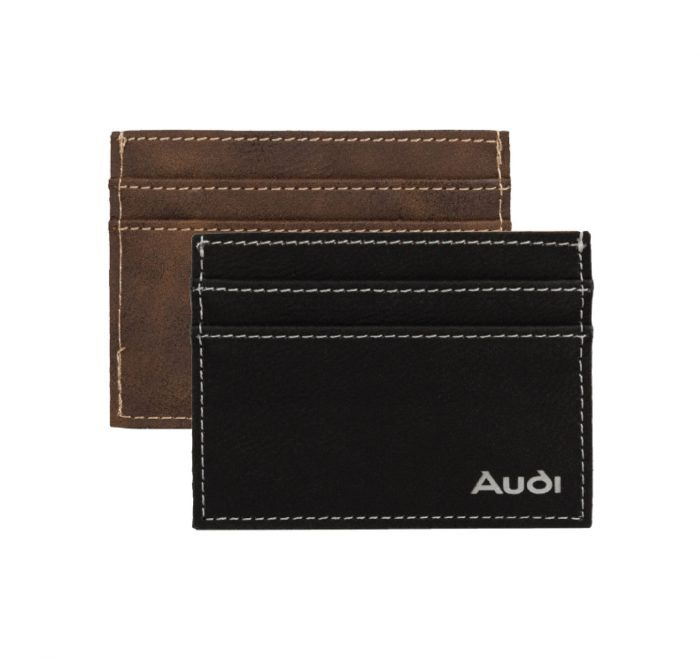 Sueded card wallet